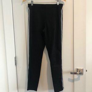 Zara black with stripe down sides leggings